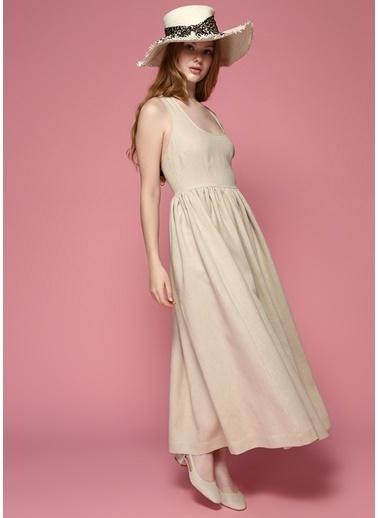 Faraway Elbise Bej